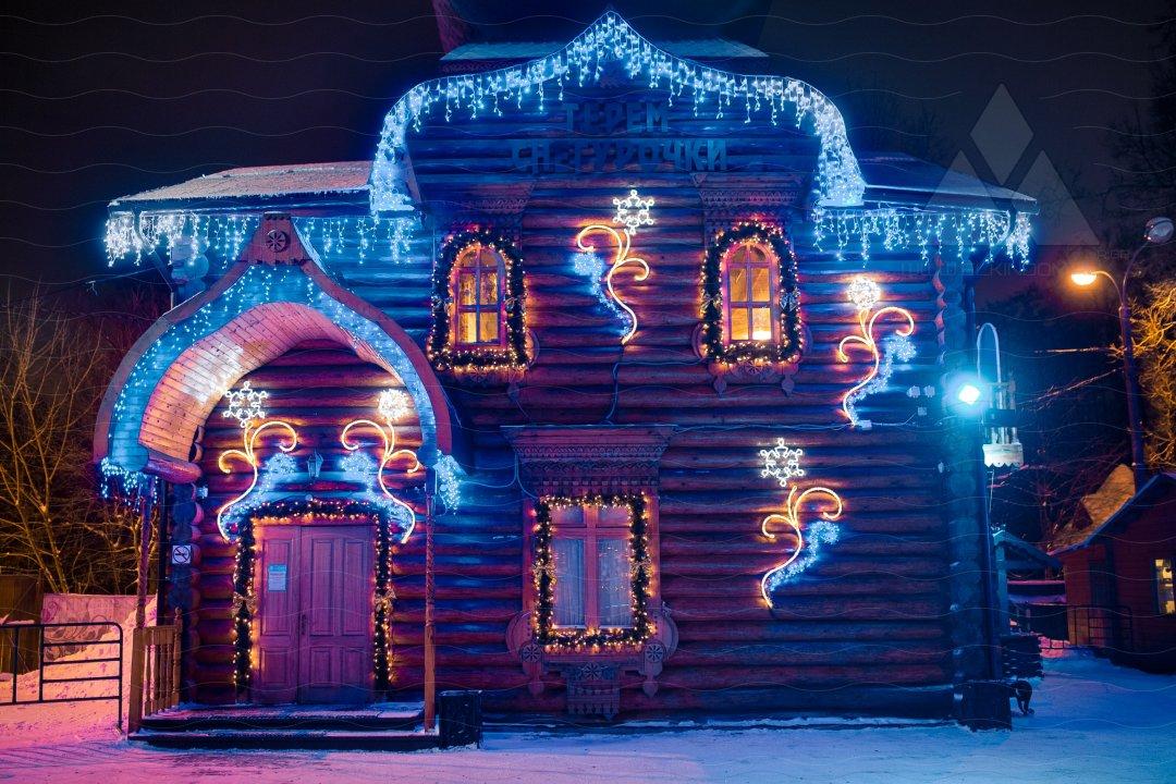 Картинка сказочного дома деда мороза